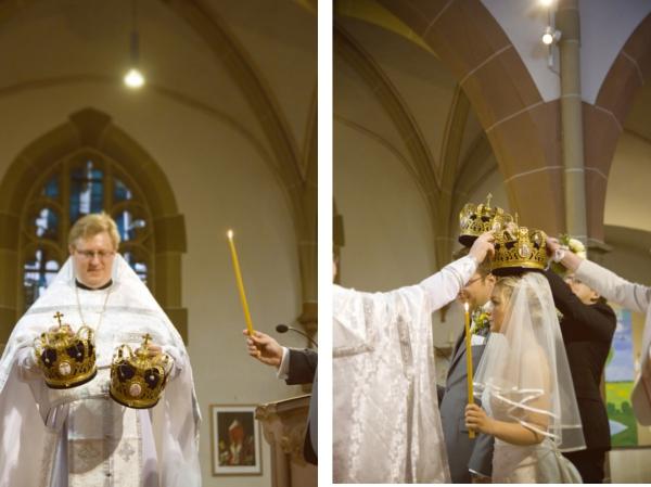 Katholisch-Orthodoxe Trauung in gelb-grau-weiß - Verrückt