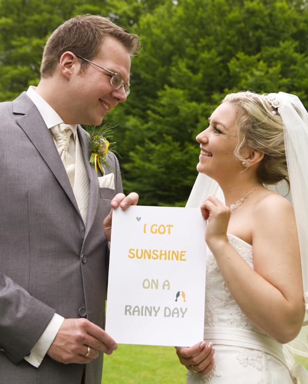 Hochzeit, Gasoline, Verrückt nach Hochzeit, Brautpaar, Sunshine on a rainy day