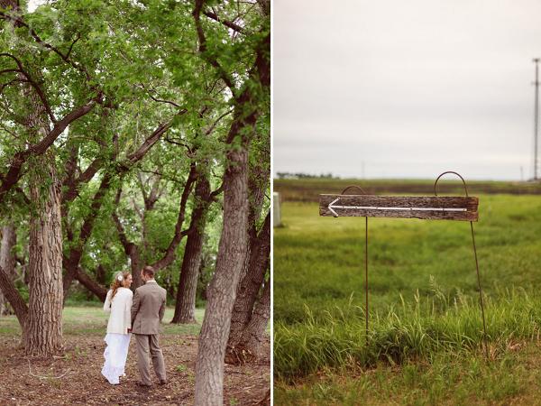 Hochzeit, Landhochzeit, Scheunenhochzeit, Wegweiser, Braut
