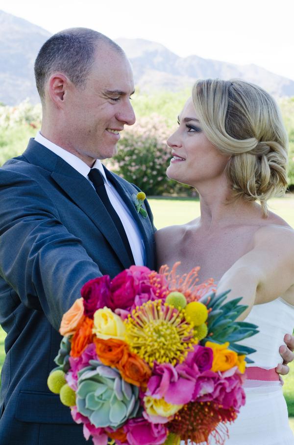 Verrueckt nach Hochzeit, JohnDRussell, PalmSprings, Brautstrauß