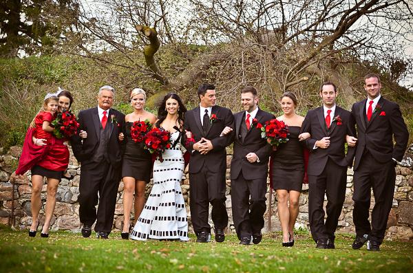 Hochzeit, Halloween, Herbst, Bridal Party