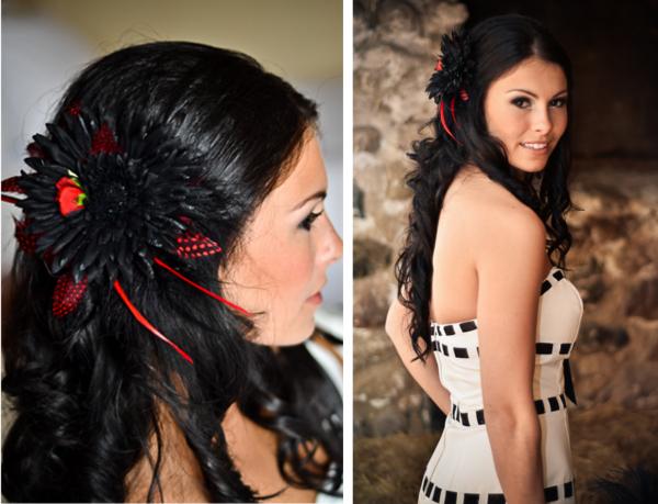 Verrückt nach Hochzeit, Braut, Haarschmuck, DIY, Headpiece, Halloween