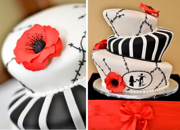 Verrueckt nach Hochzeit, Halloween, Herbst, Hochzeitstorte, poppy red, Tim Burton