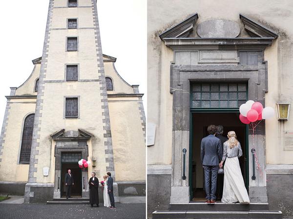 Hochzeit, Trauung, Kirche, Düsseldorf, Verrückt nach Hochzeit, Luftballons