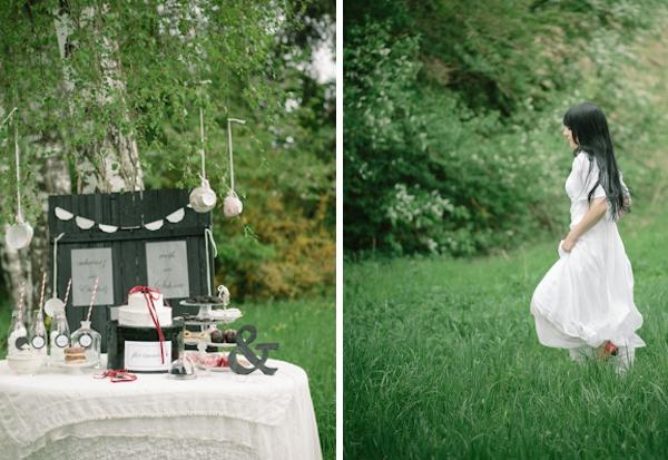 Inspirationsshooting, Verrückt nach Hochzeit, Siegrid Cain, Candy Bar, Dessert, Torte, Braut