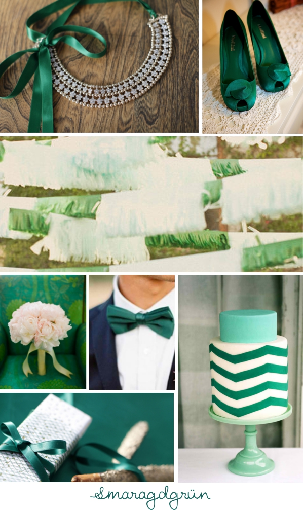 Inspirationsboard Smaragdgrün, Emerald