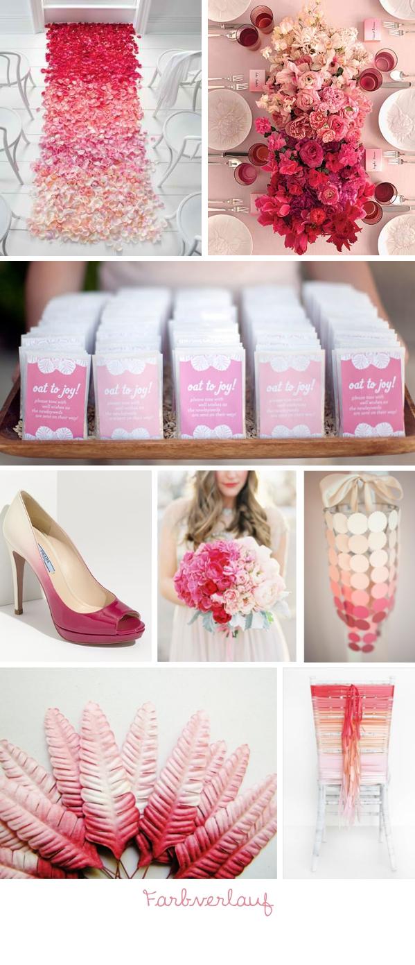Hochzeitstrend 2013: Ombre Farbverlauf