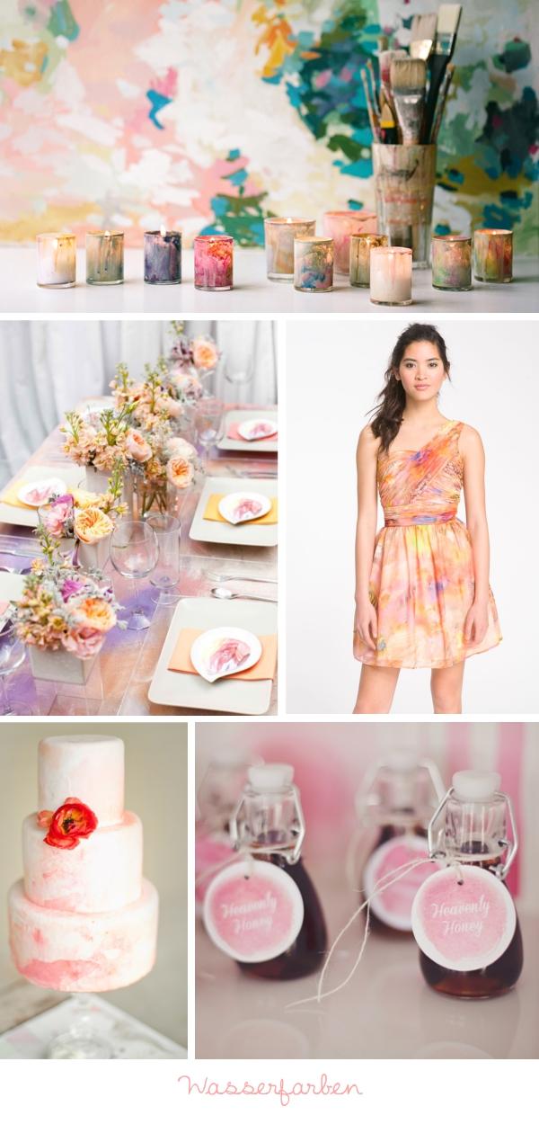 Hochzeitstrends 2013: Wasserfarben