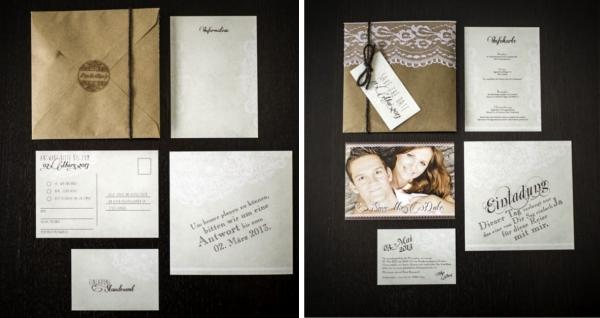 Hochzeitseinladung zum selber nachmachen