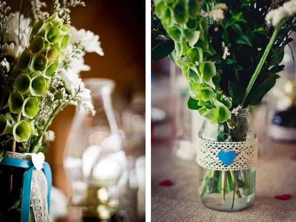 Tischdeko einer DIY Hochzeit in Südafrika by iz-photography