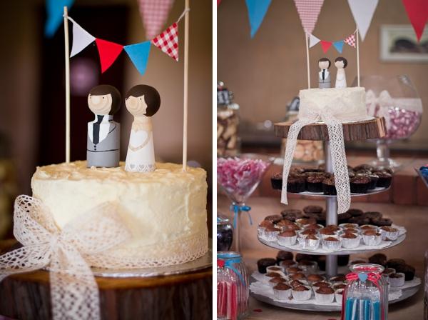 Hochzeitstorte einer DIY Hochzeit in Südafrika by iz-photography