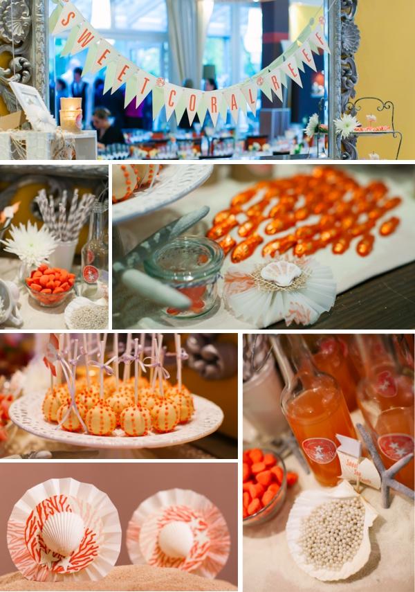 Sweettable mit maritimen Motiven, Hochzeit gestaltet von Irina Thiessen und Katharina Sparwasser