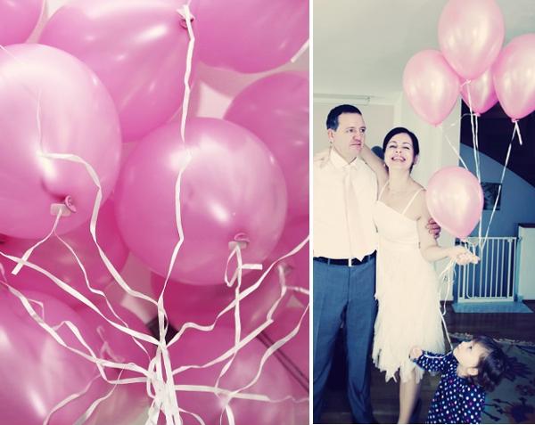 Rassa & Armin - Minihochzeit in München - rosa Helium-Ballons