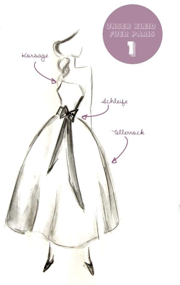 Brautkleid Entwurf von Noni