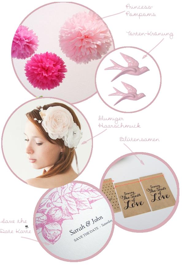 Produkte für die Frühlingshochzeit