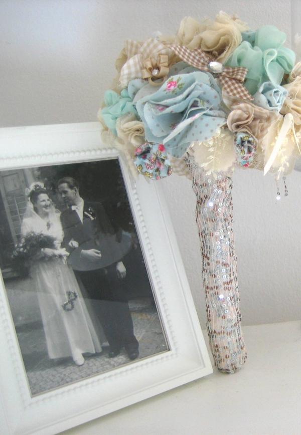 DIY Brautstrauss aus Stoff selbermachen_Andenken