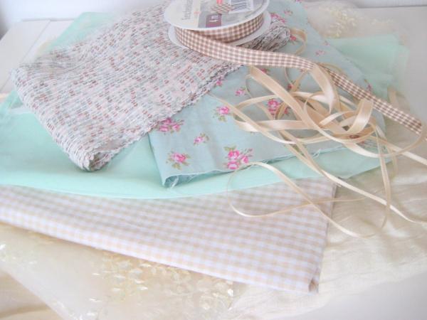 Material für DIY Brautstrauss aus Stoff selbermachen