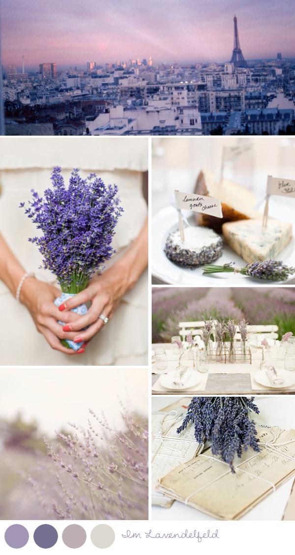 Unser Mood für Paris - Moodboard in Lavendeltönen
