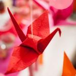 DIY – Origami-Kraniche als Hochzeitsdekoration