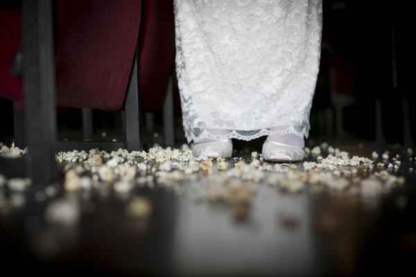 Brautschuhe im Popcorn