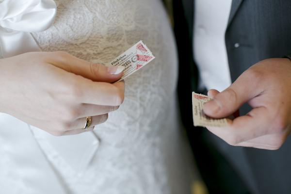 Hochzeitsfotos im Kino