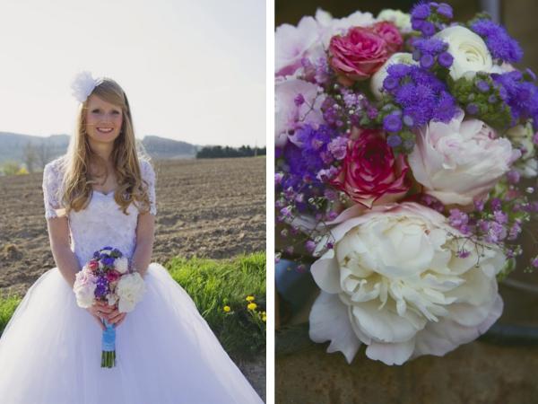 Brautstrauß einer DIY Hochzeit im Vintage Stil im Sauerland von Gasoline Photography