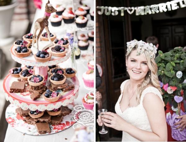 Frieda + Steve Hochzeit in Duesseldorf_ DIY Tortenständer