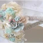 DIY Brautstrauß aus Stoffblüten