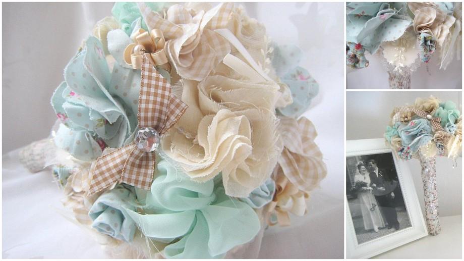 DIY Brautstrauß aus Stoffblüten von Nathaly Parker | Verrueckt nach Hochzeit