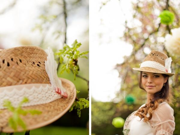 Frühling in Bayern: Braut mit Trachtenhut. Foto: Schokolinse