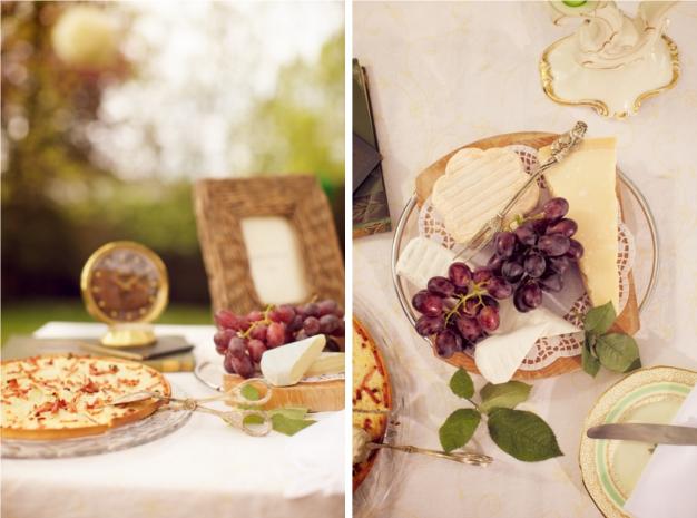 Frühling in Bayern: Käseplatte für die Hochzeitsgäste. Foto: Skyphoto