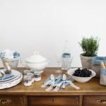 Für die Blaue Stunde – Tischdekoration für eine Sommerhochzeit