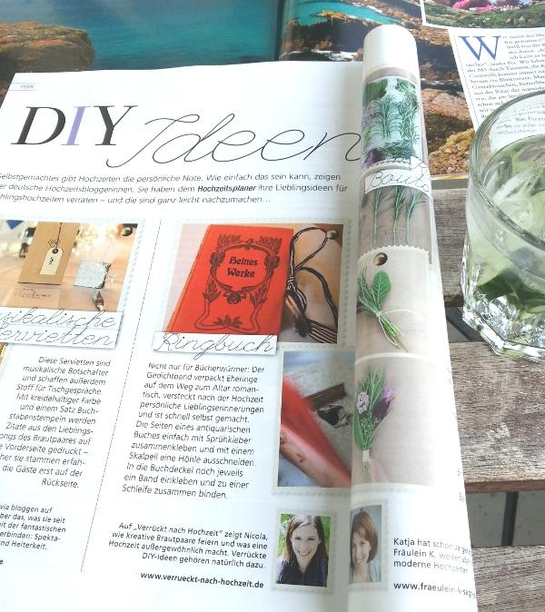 DIY von Verrückt nach Hochzeit in der Sommer-Ausgabe es Hochzeitsplaner Magazin