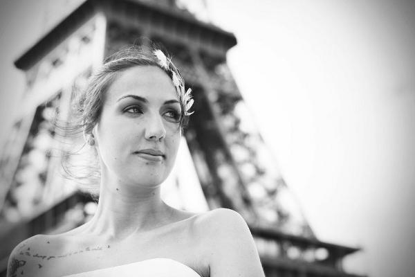Mit Noni in Paris vor dem Eiffelturm