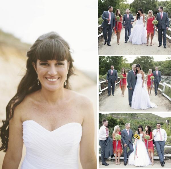 Destination Wedding in Suedafrika: Das Paar und ihre Trauzeugen