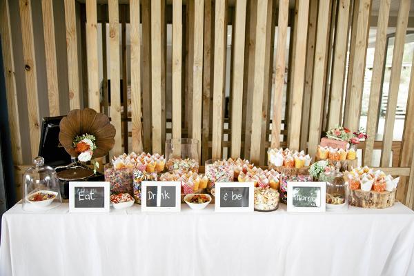 Destination Wedding in Suedafrika: natürlich gab es auch eine Candybar