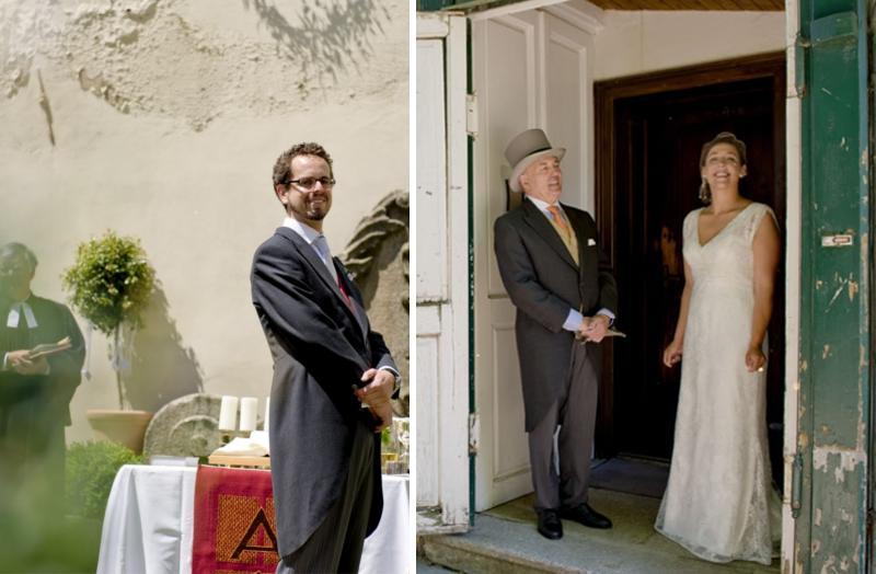 VerruecktnachHochzeit: Markus und Mimi - Hochzeit in Österreich: Warten am Altar - Foto: Schelke Fotografie