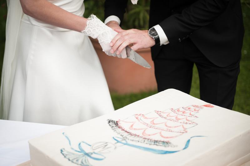 Hochzeit aus dem wahren Leben auf Verrückt nach Hochzeit: DIY Hochzeit in Hamburg von Kathrin Stahl - Hochzeitstorte