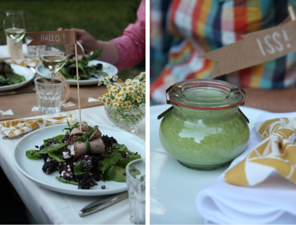 Verruecktnachhochzeit Pop up Dinner: Vitello Rollato und grüne Gazpacho