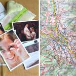 DIY Vergiss-mein-nicht-Buch aus Landkarten
