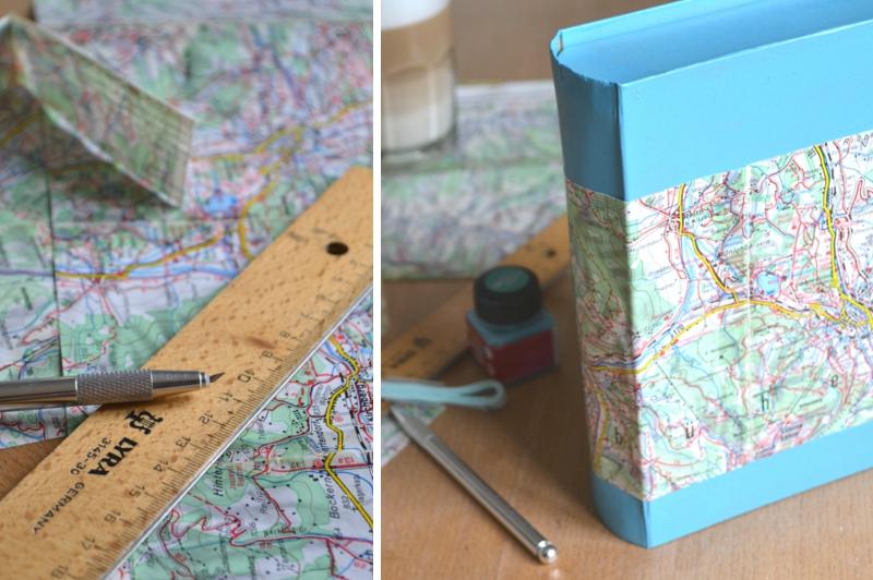 Verrueckt nach Hochzeit: DIY Erinnerungsbuch aus Landkarten