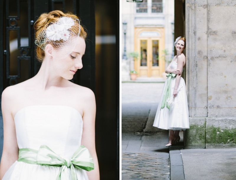 Noni2014 Alice - Korsagenkleid mit Schleifengürtel in süßer Pistazie