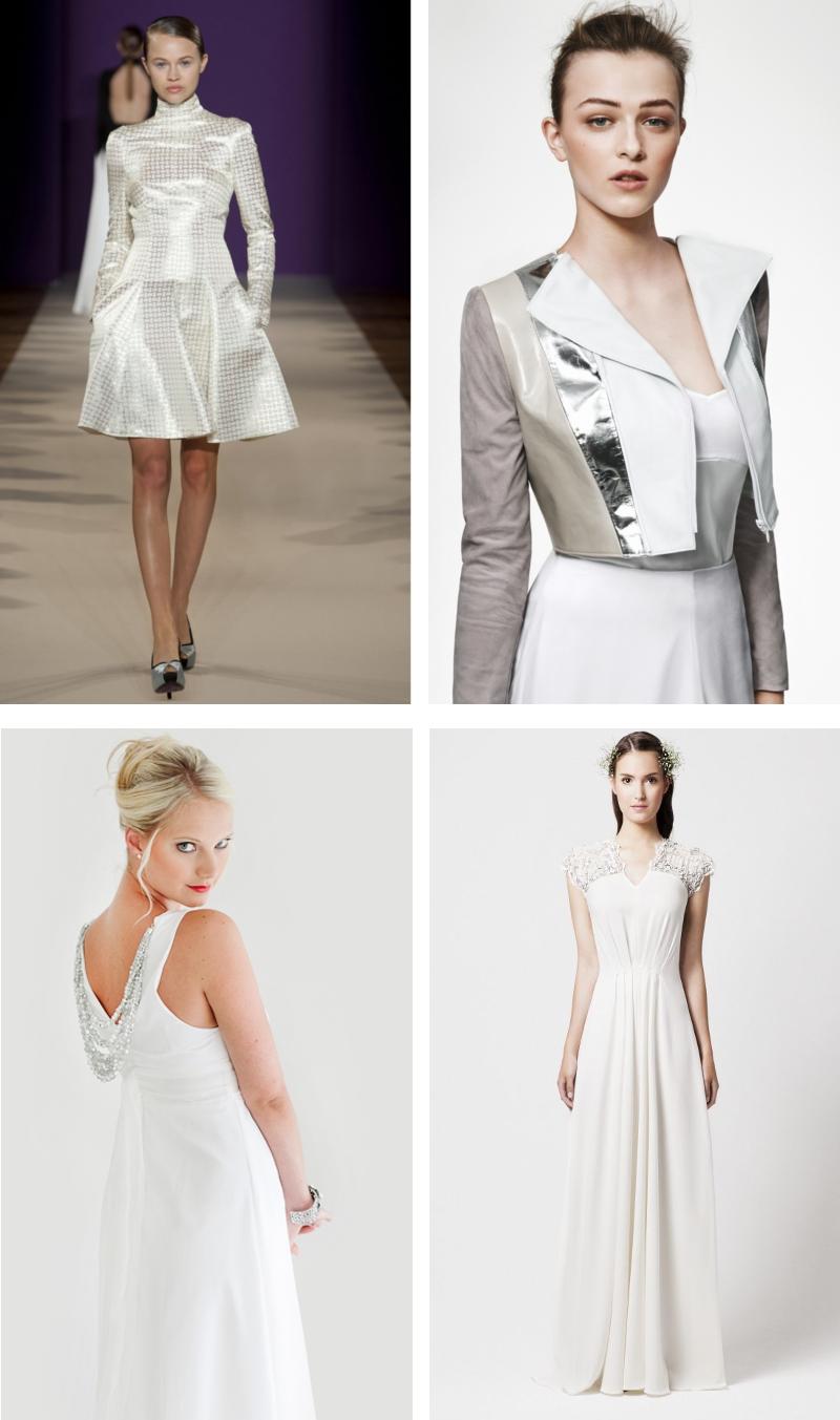 Brautkleid-Trends 2014 - Teil 4: Leder und Metalic
