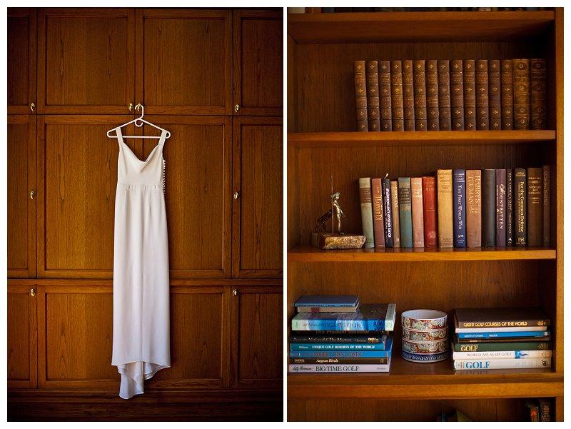 klassische Hochzeit in einer Bibliothek