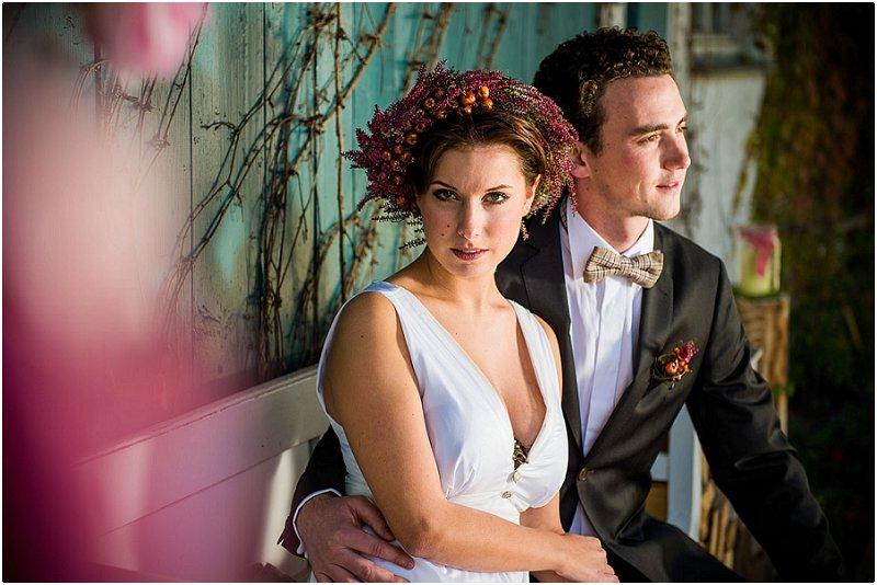 Inspiration für die Herbsthochzeit; das Brautstyling in Kupfer | Verrückt nach Hochzeit | Fotos: Schelke Fotografie