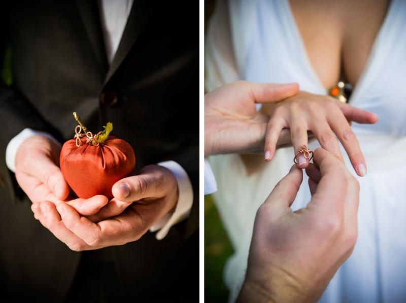 Verrückt nach Hochzeit: herbstliche Trauung unterm Baum (Foto: Schelke Fotografie)