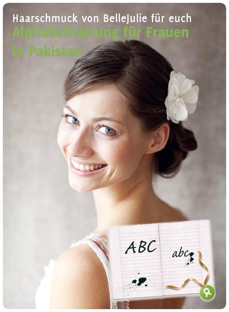 Spendenaktion von Verrückt nach Hochzeit zu Gunsten von Oxfam: Haarschmuck von BelleJulie
