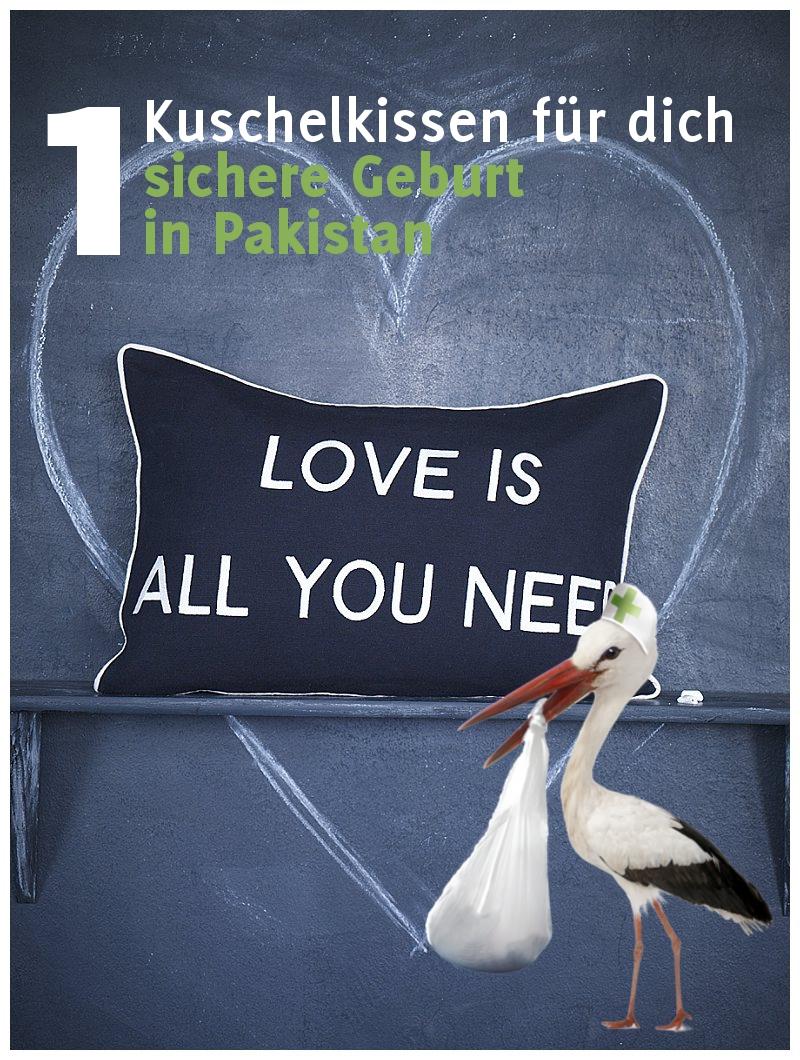 """Vrrueckt nach Hochzeit Spendenaktion zu Gunsten von Oxfam: Kissen """"Love is all you need"""" von van harte"""