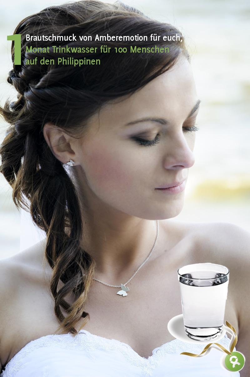Verrückt nach Hochzeit Spendenaktion im Advent: Brautschmuck von Amberemotion