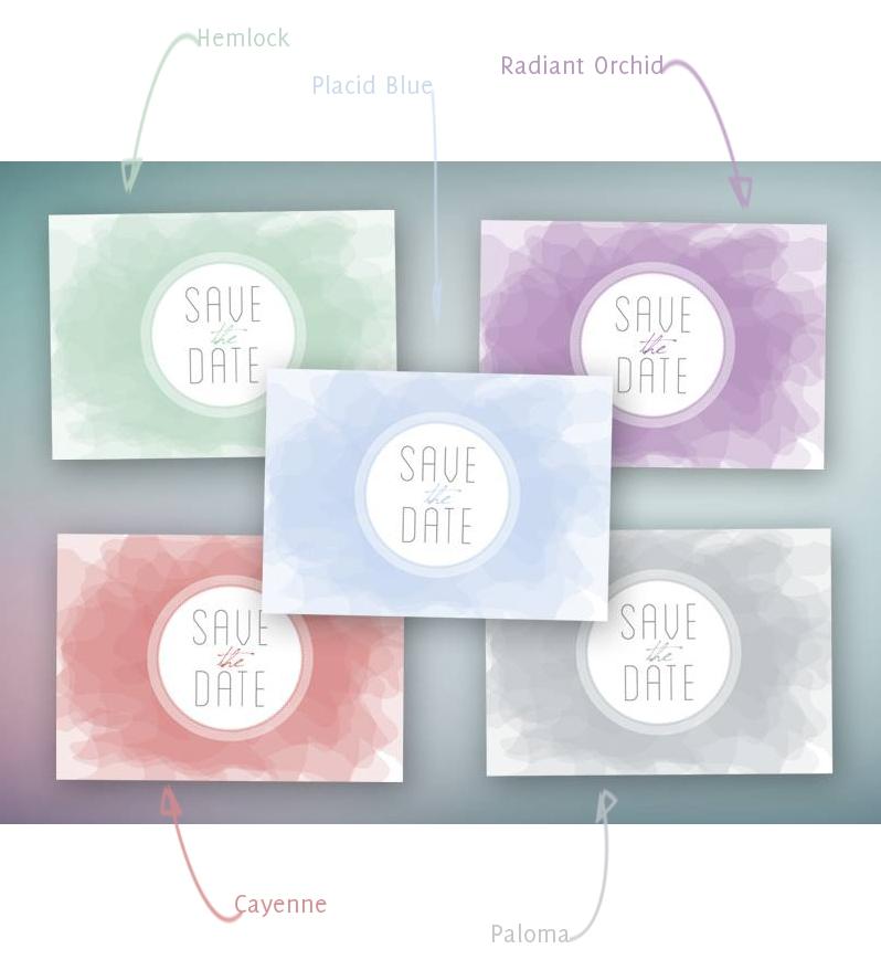 Verruecktnachhochzeit: Papeterie von Weddingeve by huefnerdesign in Pantone-Farben Spring2014_